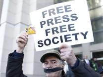 Protest für Pressefreiheit in der Türkei