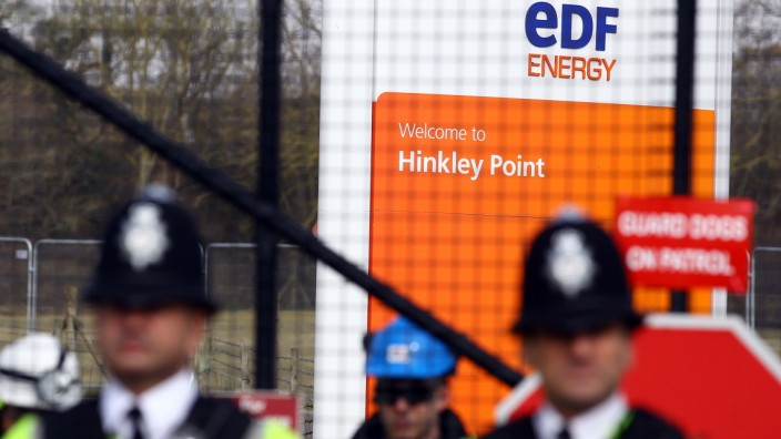 FILE - EDF's Nuclear Power Plant Set To Get Final Investment Approval Anti Nuclear Protesters Demonstrate Outside Hinkley Point Nuclear Power Station