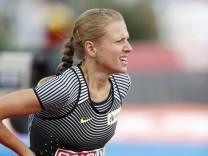 STEPANOVA Yuliya EAA startete ueber 800m und gab in der zweiten Runde auf Vorlauf 800m der Frauen Eu