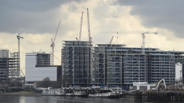 Apartments under construction in London