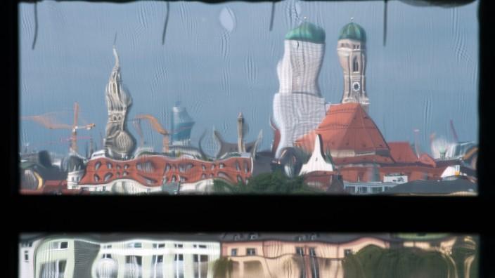 Verzerrtes Bild von München