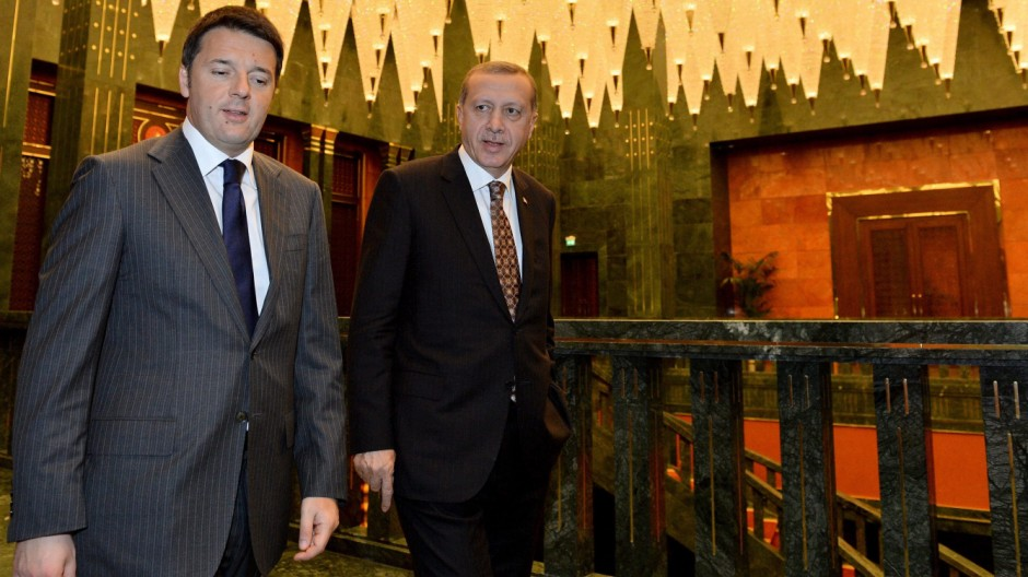Italiens Prime Premierminister Matteo Renzi im Dezember 2014 in der Türkei.