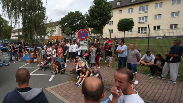 Kundgebung vor Bamberger Aufnahmeinrichtung