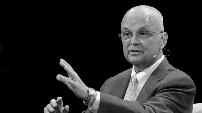 Former NSA and CIA Director Michael Hayden speaks at the TechCrunch Disrupt event in Brooklyn borough of New York