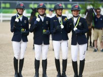Equestrian - Eventing Team Victory Ceremony