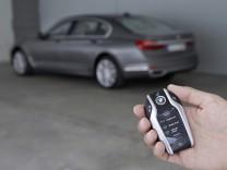 BMW 7er mit elektronischem Keyless Go-Autoschlüssel