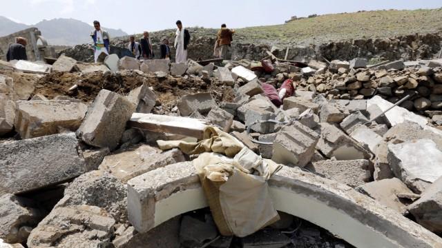 Saudi-led military coalition airstrikes on Sana'a