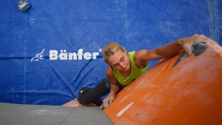 IFSC Boulder Worldcup 2013 Munich; Monika Retschy Klettern Bouldern