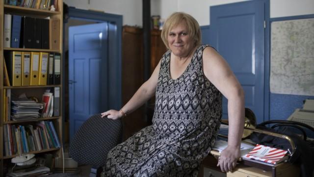 Jane Thomas, CSU, war früher mal ein Mann. Transgender, Transsexuell. Fotografiert in ihrer Wohnung
