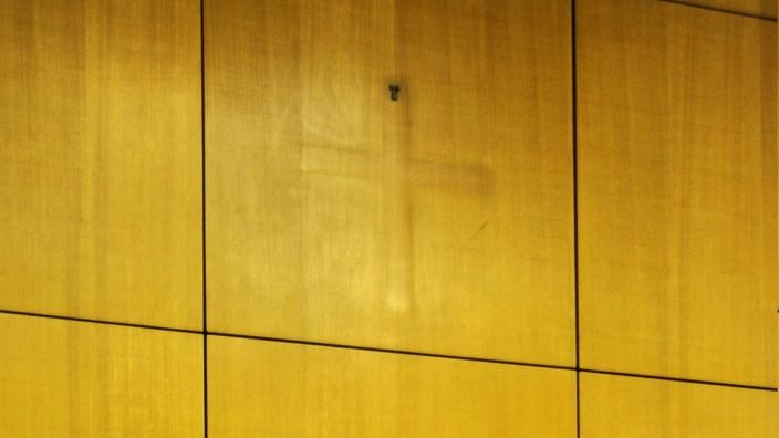Im Amtsgericht in Sulzbach wurden die Kruzifixe abgehängt nachdem der zuständige Gerichtspräsident