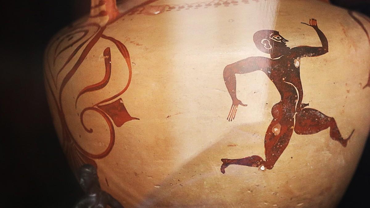 Der nackte Sprinter, den Michael Phelps nach 2200 Jahren entthronte