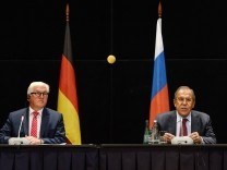 YEKATERINBURG RUSSIA AUGUST 15 2016 Germany s Foreign Minister Frank Walter Steinmeier L and