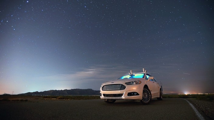 Autonomes Ford Fusion-Forschungsfahrzeug verwendet