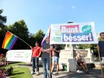 Kundgebung gegen Homophobie in München, 2015