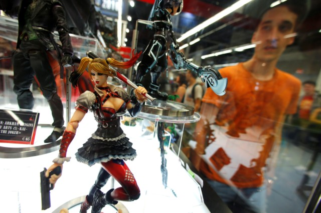 Figures are pictured during the Gamescom fair in Cologne