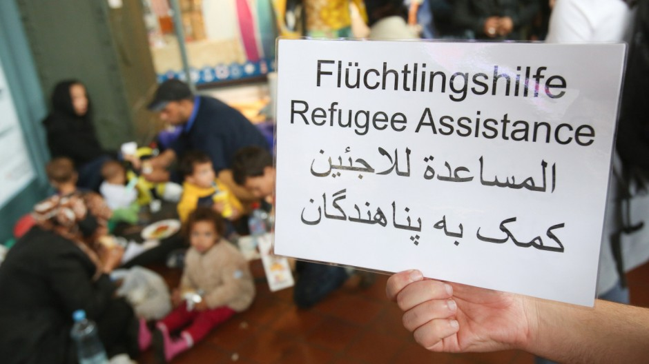 Flüchtlinge am Hamburger Hauptbahnhof