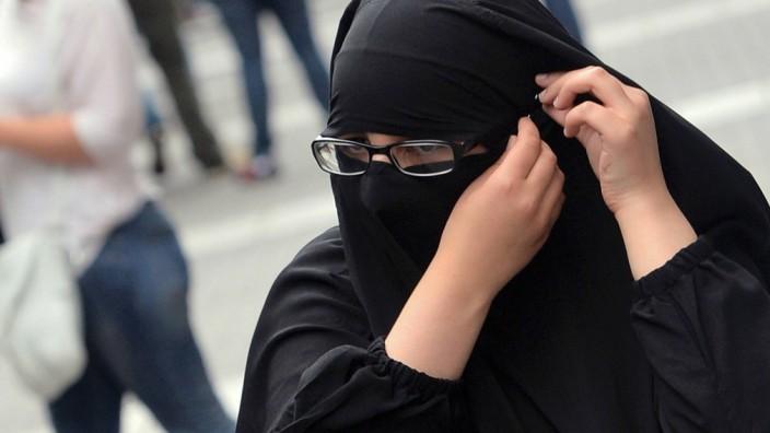 Verschleierte Muslima