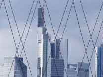 File picture of the Frankfurt skyline