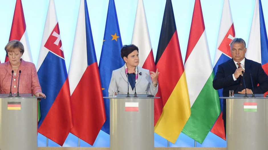 Visegrad Group meeting with Chancellor Merkel in Warsaw