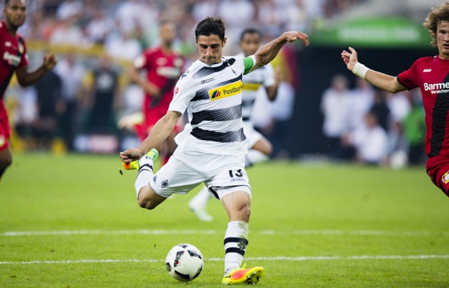 Mönchengladbach 27 08 2016 Borussia Park Tor zum 2 1 durch Lars Stindl BMG VfL Borussia Möncheng