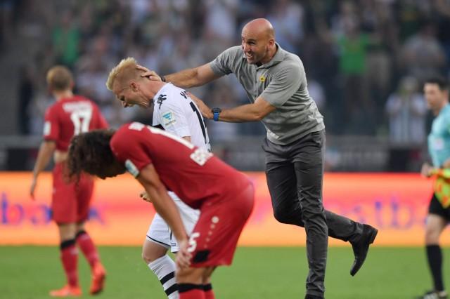 27 08 2016 Fussball Saison 2016 2017 1 BL 1 Spieltag Borussia Moenchengladbach Bayer 04 Le