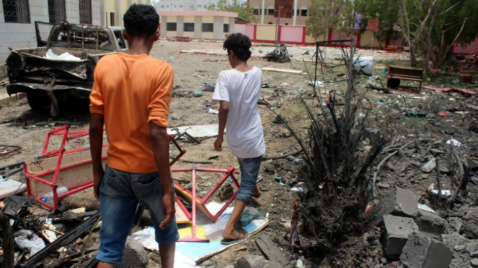 Suicide bombing kills at least 60 in Aden