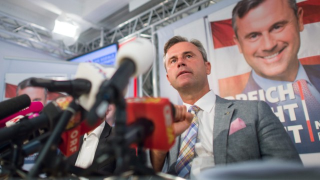 Norbert Hofer presents his election program in Vienna