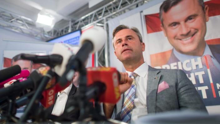 Norbert Hofer presents his election program in Vienna