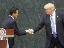 Trump meets Enrique Pena Nieto in Mexico City