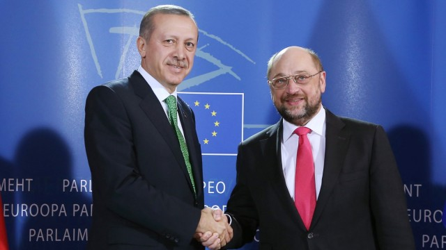 Turkish Prime minister Recep Tayyip Erdogan at the EU Parliament