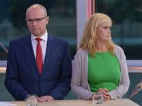 Landtagswahl in MV - TV-Studio