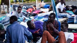 Flüchtlinge am Sendlinger Tor Platz