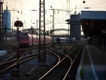 Bahngleise am Hauptbahnhof in München, 2011
