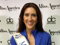 Miss Missouri Erin O'Flaherty, the first openly gay contestant in the Miss America pageant , poses in Atlantic City, New Jersey