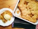 Pfirsich-Pie mit Eis Original