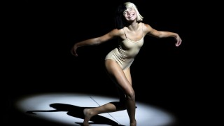 Maddie Ziegler performs during an Apple media event in San Francisco