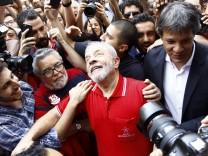 Lula da Silva wegen Korupption angeklagt SÃO PAULO SP 15 09 2016 LULA MAKES STATEMENT AFTER DENO