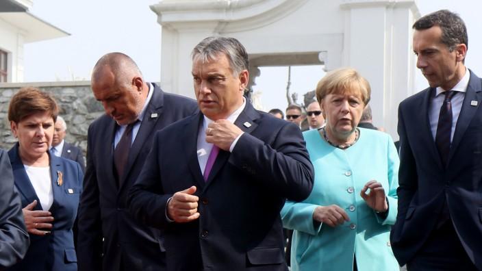 Beata Szydlo, Boyko Borissov, Angela Merkel, Christian Kern