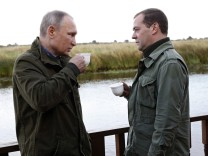 Russian President Putin, PM Medvedev campaign for Duma elections