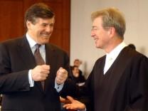 Mannesmann-Prozess: Ackermann und Anwälte