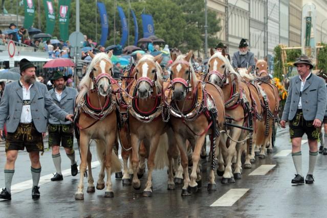 traditioneller Festumzug des Festring s München mit teilnehmenden Gruppen aus vielen Ländern am erst