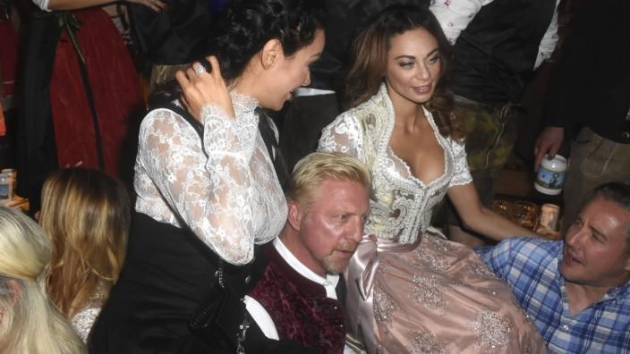 Verona Pooth Boris Becker und Lilly Becker bei der Eröffnung des Oktoberfestes 2016 in Käfers Wiesn