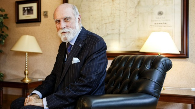The American internet pioneer Vinton G Cerf MADRID PUBLICATIONxINxGERxAUTxHUNxONLY SERGIOxENRiQUE