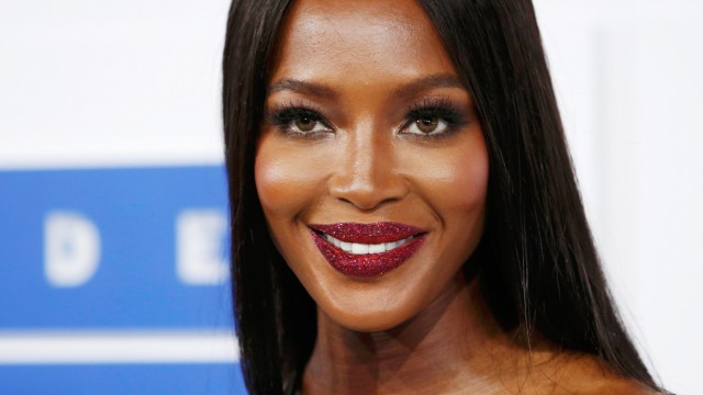 Model Naomi Campbell arrives at the 2016 MTV Video Music Awards in New York