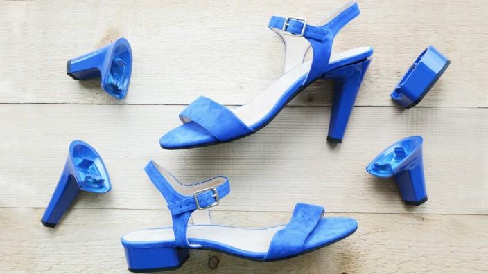 Flexheels Schuhe mit austauschbaren Absätzen.