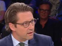 CSU-Generalsekretär Andreas Scheuer zu Gast bei Maybrit Illner