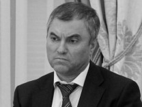 Meeting of party leaders after Russian parliament election; and Deputy Chief of the Presidential Staff Vyacheslav Volodin