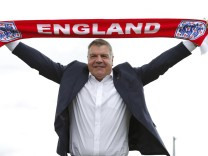 File photo of England manager Sam Allardyce posing after a news conference  at St George's Park in Britain