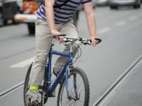 Radfahrer im Münchner Stadtverkehr, 2012