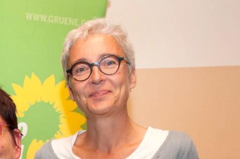 Gilching,27.09.2016, Wahl Grüne-Bundestagskandidatin (v.li.): Detlef Däke(Regionalbeirat), Kerstin Täubner-Benicke, Martina Neubauer